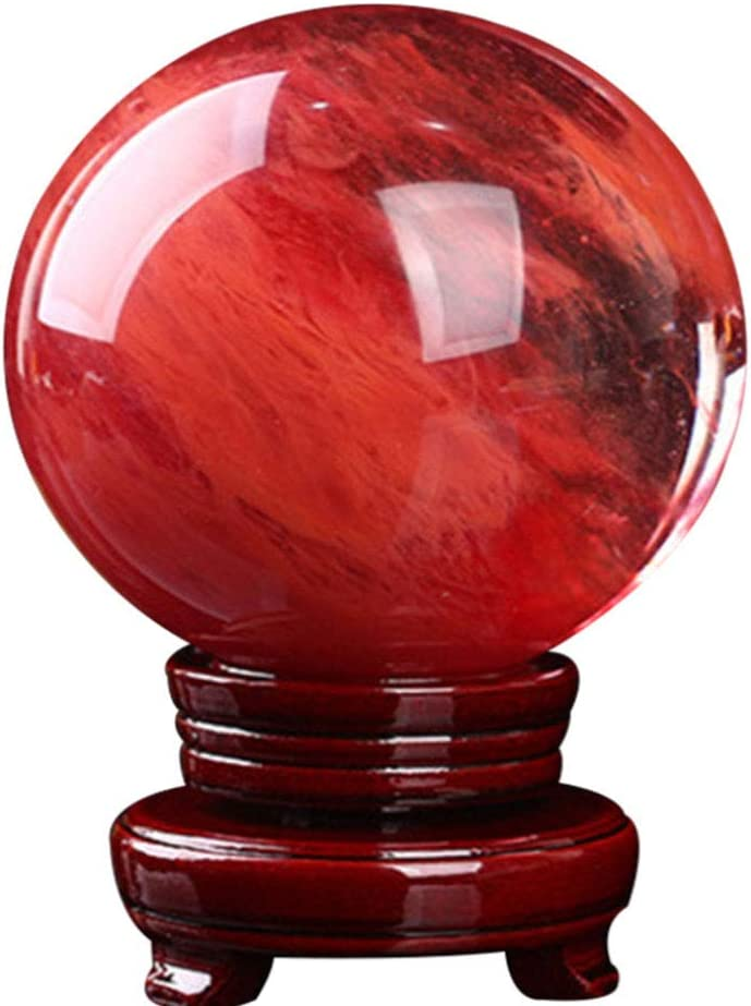 Max 80% OFF Red Crystal Ball- Sphere Smelted with Stand Challenge the lowest price