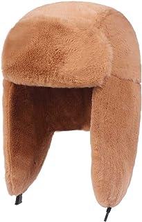 e1486f9306773 Thick Plush Bomber Hat Warm Winter Hat for Men Women Trapper Hats Ear  Protect Russian Ear