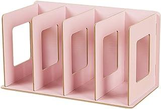 SanQing Rack de CD de Madera Plegable Rack de DVD Rack de Libros Rack de CD Soporte de DVD Estante de Almacenamiento de CD,Pink