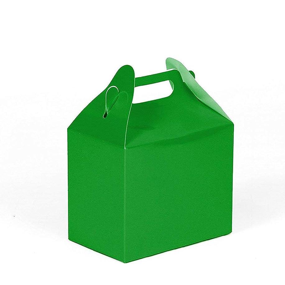 24CT (2 Dozen) Biodegradable Kraft/Craft Favor Treat Gable Boxes, Gift Boxes (Green, Small)