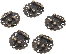Nologo SSB-DAKOU 10 stuks vintage decoratieve barhaken sieraden koffer slot geschenk van hout ronde doos decoratieve slote...