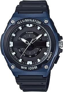 Men's Quartz Watch with Resin Strap, Black, 17.65 (Model: MWC-100H-2AVCF)