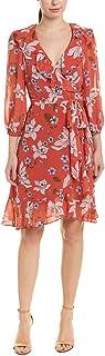 Donna Morgan womens Long Sleeve Chiffon Wrap Dress Casual Dress