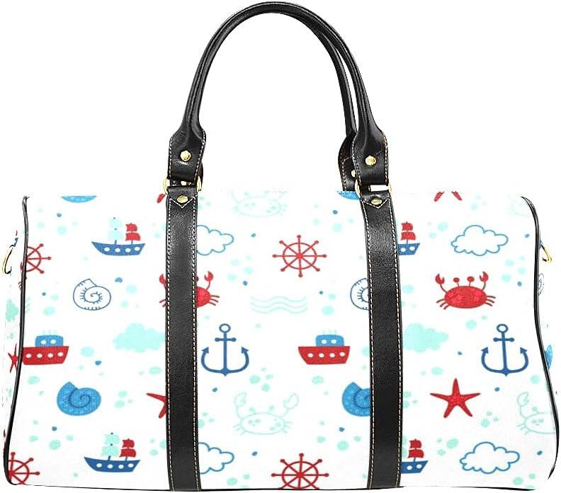 Unisex Travel Duffel Bag Texture Marine Carry-on Max 73% OFF Theme Regular store Shoulder