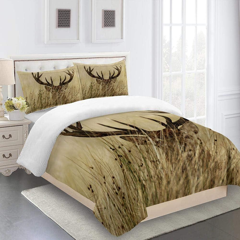 ZTMLJT Duvet Cover Max 74% OFF Full 80x90 Inch Prairie Pattern Animal elk P Cheap sale