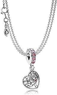 Pandora Charm Collana con ciondolo a forma di albero d'amore 08392