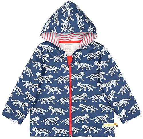 Loud + proud Unisex Baby Jacke Wasserabweisende Outdoorjacke, aus Bio Baumwolle, Gots Zertiziziert, Blau , 68-Herstellergröße: 62/68,