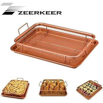 Kitchen Craft KC2BK6 Teglia Antiaderente da Forno Argento 43x29x1.5 cm