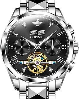 Sponsored Ad - Swiss Brand Automatic Watch for Men Self Winding Tourbillon Mechanical Business Luxury Waterproof Luminous ...