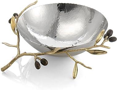 Michael Aram Olive Branch Gold Steel Bowl