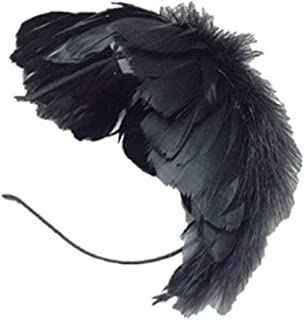 Yoshi edward Fascinators Elegant Feather Headband Wedding Headwear Ladies Royal Ascot