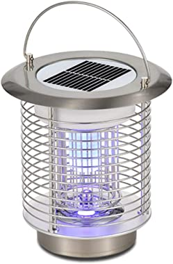 MeetUs Solar Power Mosquito Lamp Indoor Outdoor Electronic Bug Catcher with Hook to Hangable,Effect 80 sq. Ft, for Home Bedro