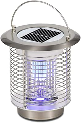MeetUs Solar Power Mosquito Lamp Indoor Outdoor Electronic Bug Catcher with Hook to Hangable,Effect 80 sq. Ft, for Home Bedroom Garage Kitchen Office Restaurant Hotel