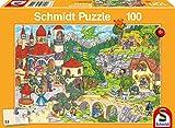 Schmidt Spiele- Puzzle Infantil (100 Piezas), diseño de Paisaje de los Hadas, Color carbón (SCH56311)