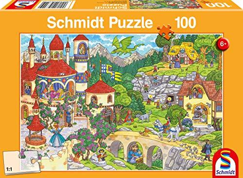 Schmidt Spiele Puzzle 56311 Im Land der Märchen, 100 Teile Kinderpuzzle, bunt