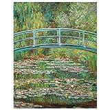 JUNIWORDS Poster, Claude Monet, Japanische Brücke, 80 x