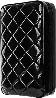 Estuches de CD, Alachi EU 96 Capacidad Charol blando Cremallera doble Estuche de DVD a prueba de agua Estuche de almacenam...
