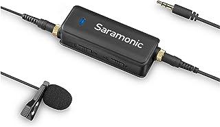 Saramonic Mono/Stereo Micrófono de Solapa de 2 Canales entrevista Multifuncional Micrófono de Solapa omnidireccional de Condensador para iPhone, iPad, Android, DSLR, cámara Canon Sony, GoPro 3 4