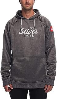 686 Men's Pullover Fleece Hoody | Water Resistant, Modern Fit, Drawstring Hood | Technical Apparel Outerwear, Gray, Coors Light