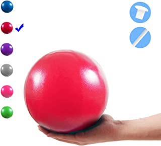 Vaupan Mini Exercise Ball, 9 Inch Small Gym Ball with Inflatable Straw for Yoga, Pilates, Stability, Barre, Physical Therapy, Stretching and Core Training, Improves Balance, Strength