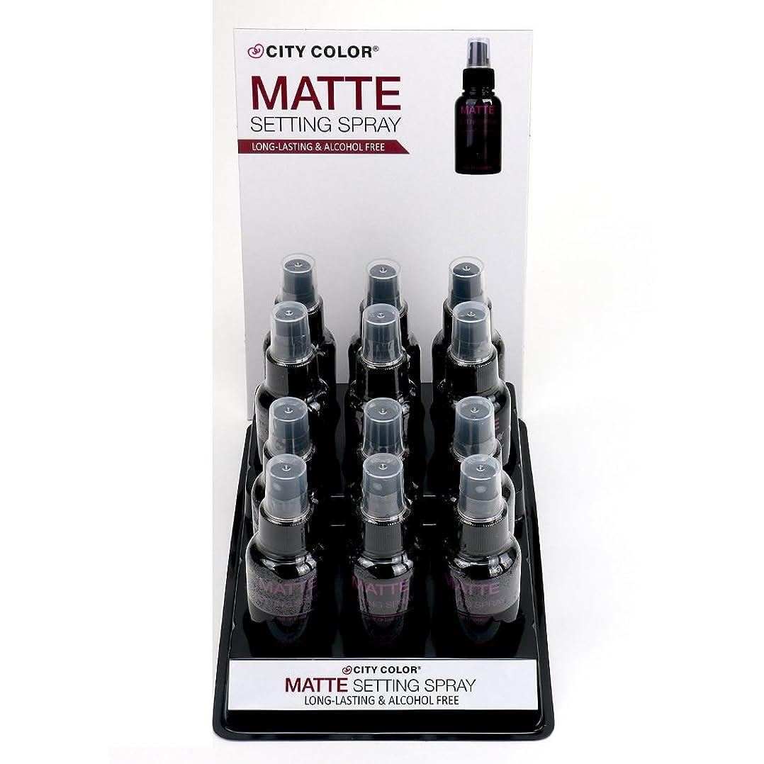 埋め込む繕うポインタCITY COLOR Matte Setting Spray Display Case Set 12 Pieces (並行輸入品)