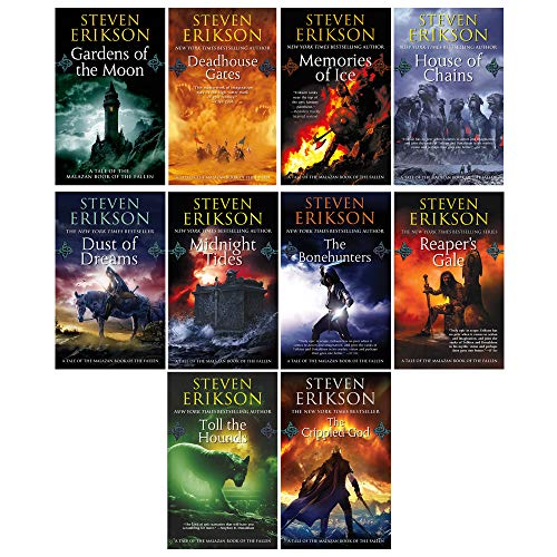 Steven Erikson 10 Books Collection Set (Vol. 1-10) (The Malazan Book of the Fallen)