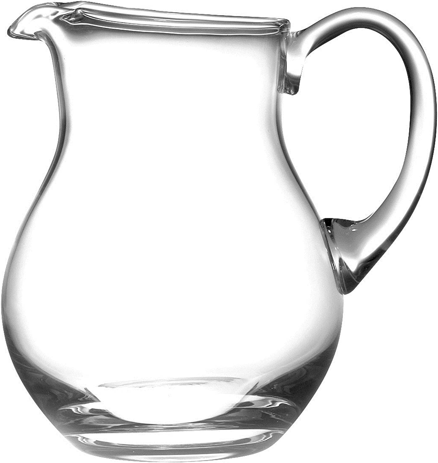 Barski Handmade Round Glass Pitcher with handle, With Spout, Ice Lip, 64 oz., Great for Kool aid, Made in Europe