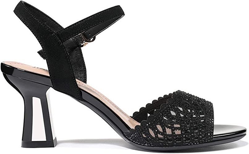 SFSYDDY Chaussures Populaires Un Mot sur 7Cm Sandales Xia Xin Style Bouche De Poisson Les Chaussures De Femmes.