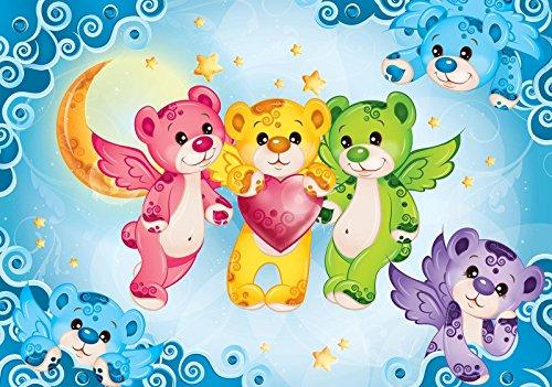 Welt-der-Träume Fototapete Tapete Wandbild Bären | P4 (254cm. x 184cm.) | Photo Wallpaper Mural 10156P4-MS | Regenbogen Bären Glücksbärchis Teddybären Bunt