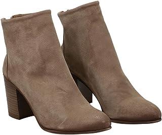 Felmini - Zapatos para Mujer - Enamorarse com Madeline C223 - Botines con Cremallera - Cuero Genuino - Beige