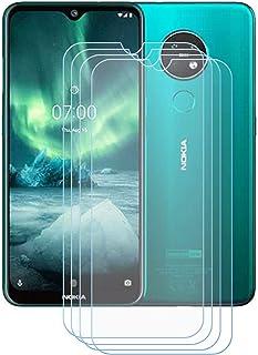 YZKJ 4 stycken pansarglas skyddsfolie för Nokia 7.3 Plus, 9H hårdhet ultratydligt härdat glas displayskyddsfilm, anti-olja...