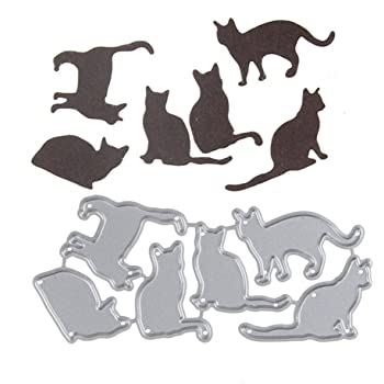 Two Cats Metal Cutting Dies Scrapbooking Die Cuts Card Making Craft Die Stencil