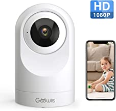 WiFi Camera Indoor, Goowls 1080P HD Home Camera Wireless Security IP Camera for Baby/Pet/Nanny Monitor Pan/Tilt Night Vision Motion Detection Two-Way Audio Works with Alexa Cloud Service
