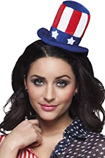 Boland USA Aunt Sam 4th July American Flag Mini Top Hat Alice Headband Fancy Dress Accessory