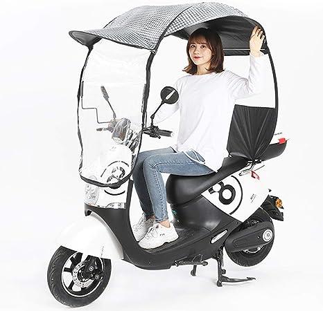 Parapluie de Scooter de Moteur ferm/é DYHQQ Housse de Pluie de Moto Universelle Pare-Soleil et Housse de Pluie imperm/éables pour Scooters Moto,C Batterie de Voiture