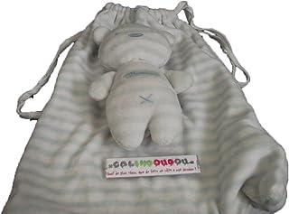 X- otros–Doudou Sergent Major rveur Douceur oso blanco Rayee Rayure verde + bolsa–4928