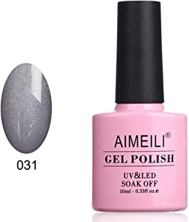 AIMEILI Soak Off UV LED Gel Nail Polish - Steel Grey (031) 10ml