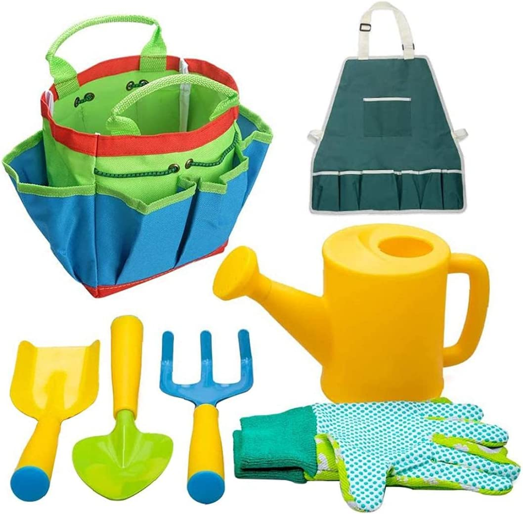 7Pcs Childrens Gardening Set Kids Apron G Can Max 76% OFF Time sale Watering