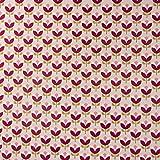 SCHÖNER LEBEN. Canvas Baumwollstoff Jolly Tulips Blumen