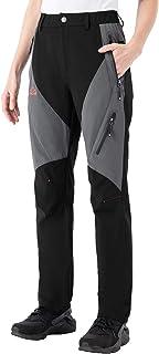 BGOWATU Women's Breathable Outdoor Pants Waterproof Hiking Pants with Multi Pockets