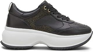 Hogan Maxi Active Scarpe da Donna Sneakers Running Sportive HXW4350BN51M3Y547D in Pelle Nero Comode Casual Tempo Libero Sh...