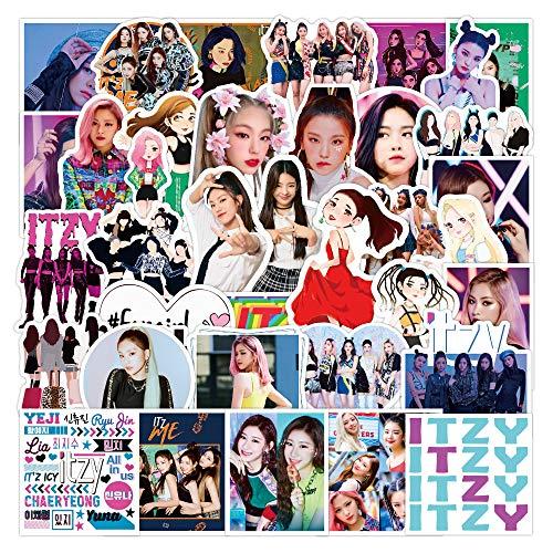 WWLL 50 Pegatinas de combinación de Canto Femenino decoración de Estrellas Pegatinas de Maleta de Cuaderno Pegatinas de Chica Femenina