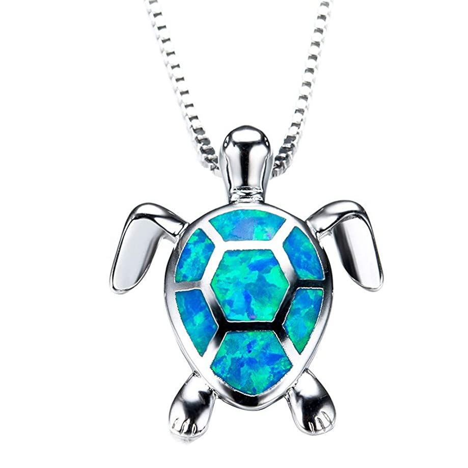 Womens Jewelry Clearance Sale! Women Charm Cute Sweater Necklace Opal Turtle Pendant Jewelry Ornament Jewelry Under 5 Dollars Valentine's Day Gifts for Girlfriend