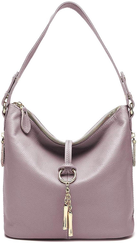 Zency Women's Soft Genuine Leather Casual Handbag
