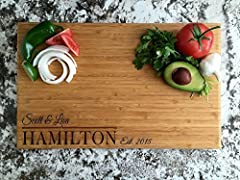 Qualtry's high quality wood cutting boards are made to last. Thanks to our thick and durable, restaurant grade bamboo, your gift will be memorable for years to come. Because of our unique laser engraving process, all customized boards are made to you...