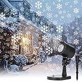 Christmas Snowflake Projector Lights Led Snowfall Show Outdoor Waterproof...