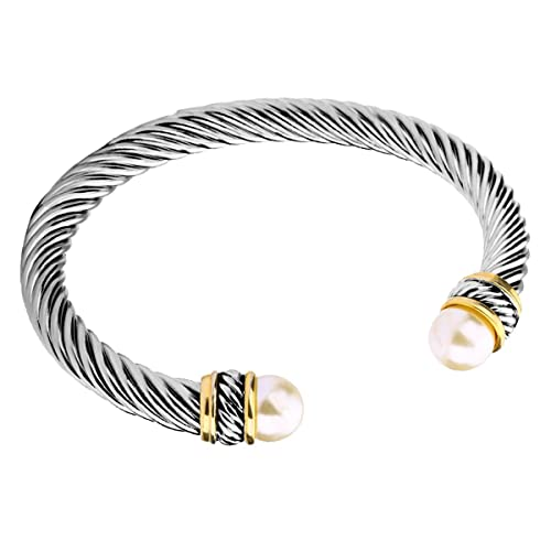 efa9526606a UNY Fashion Jewelry Brand Cable Wire Bangle Elegant Beautiful Imitation  Pearl Valentine