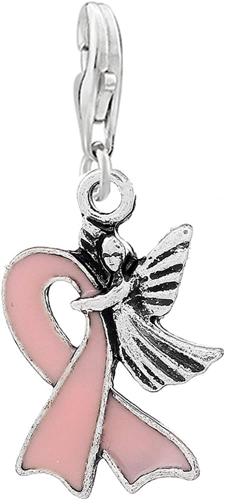 Sexy Sparkles Pink Ribbon Beast Angel Clip Finally Ranking TOP18 resale start Awareness with Cancer