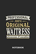 Professional Original Waitress Notebook of Passion and Vocation: 6x9 inches - 110 graph paper, quad ruled, squared, grid p...