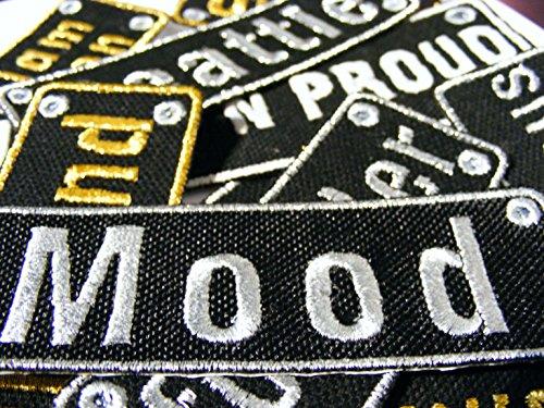 Emporium Embroidery Parches Rectangular Personalizados Customizados Plancha Bordado Chaquetas Uniforme Vaqueros Etiquetas Pequeño